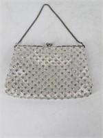 Ladies Silver Rhinestone Evening Bag