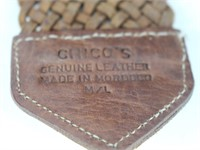 CHICO'S Genuine Braided Leather Womens Belt