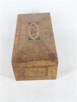 Vintage Parquetry Inlaid Wood Jewelry Box