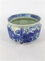 Blue English Style Transferware Chamber Pot