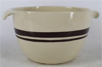 McCoy 2 Qt Brown Stripe Batter Mixing Bowl with