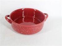 W.M.G. Red Splatter Ware Covered Casserole Dish