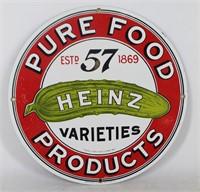 HEINZ 57 Varieties Enameled Retro Advertising Sign