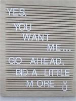 NEW Hobby Lobby Country Breadboard Letter Board