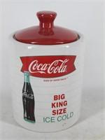 "Coca-Cola ""Big King Size"" Ceramic Cookie Jar"