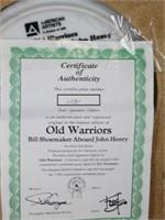 """Old Warriors"" Bill Shoemaker Collector Plate"