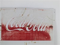 Old Metal Coca-Cola Sign from Winches Gas Station