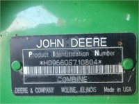 2005 JD 9660STS Combine #H09660S710804