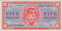 US Currency Military Payment Certificate