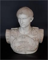 Antique Marble Bust of Caesar Augustus
