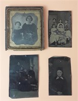 Four 19th Century Tintypes