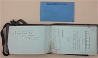 Boer War, Officer's Notebook
