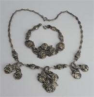 Silver and Marcasite Set, circa 1920s