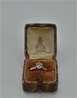 Diamond Solitaire Ring in14K Gold Setting S