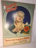 Vtg Lucky Strike Jean Harlow Advertising Poster