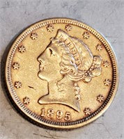 1895 $5 US Gold Coin