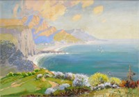 "John Zwara, oil, ""Pacific Coast, CA"""