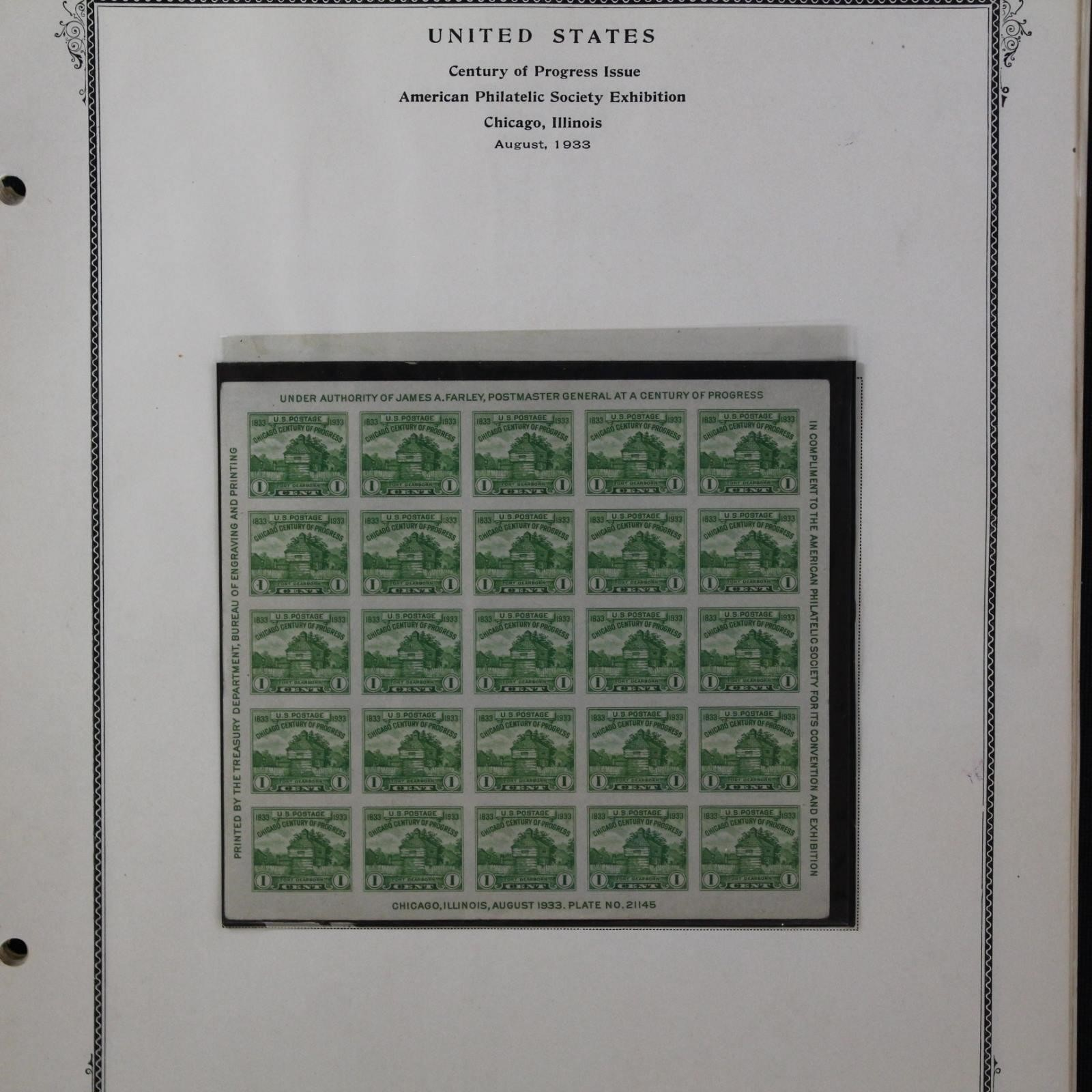 US Stamps 1930s Farleys Follies including gutters
