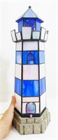 Stained Glass Lighthouse Lamp, Works