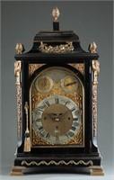 George III Thomas Hunter Junior table clock.