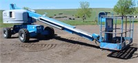 Lot 5001- Genie S-40 Man Lift   Absentee bidding available on this item. Click catalog tab for more information & pictures.