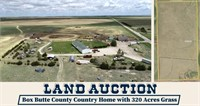 320 Acres Box Butte County Grass + Home LAND AUCTION