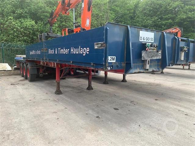 2012 DENNISON BRICK TRAILER WITH ATLAS CRANE at TruckLocator.ie