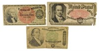 Average Circulated Fractional Currency Trio