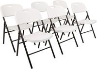 Amazon Basics Folding Plastic Chair, 6-Pack