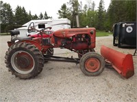 ANTIQUE ALLICE-CHALMERS TRACTOR W/BLADE
