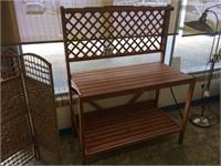 HGTV CEDAR FOLD UP GARDEN TABLE / WORK BENCH