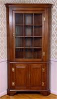 Cherry Henkel-Harris corner cupboard,