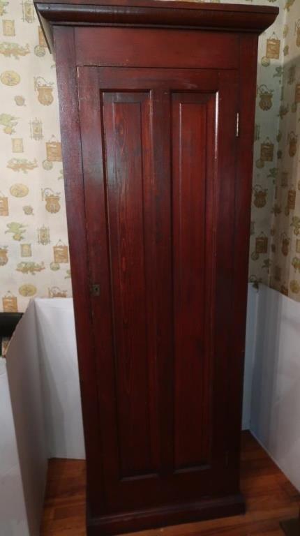 """Antique Cabinet w/7 Shelves-26""""Wx15""""Dx78""""H"""