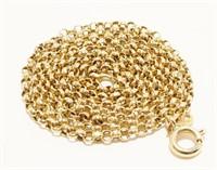 """14K Y Gold Link Necklace 20"""" 3g"""