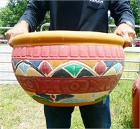 """Large 20"""" Painted Planter"""