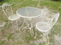 Metal Patio Table & Chairs