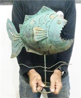 Metal Fish Statue