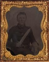 Ninth-plate Civil War Confederate tintype of Lewis Harman of Staunton, VA