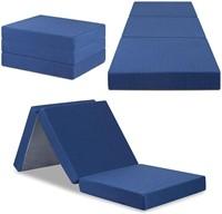 Olee Sleep Tri-Folding Memory Foam Topper, 4'' H