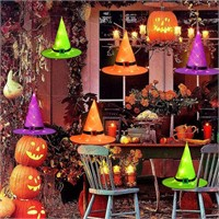Battery Operated Halloween Glowing Witch Hats