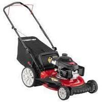 Lawn Mower with High Rear Wheels