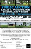 Estate of Edward H. Wiesman for Bernadine Wieseman