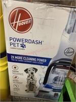 Hoover power dash pet carpet cleaner box appears