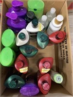 20 full size bottles various shampoo and
