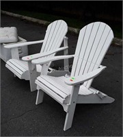 Pair of white painted Lawn Chairs, nice condition