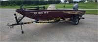 2000 Lowe 170W boat, 2000 Yacht Club Trailer -VUT*