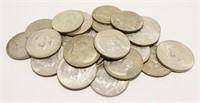 24x 1965 Kennedy Clad Half Dollars