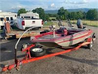 79 Venture 15' Boat/Trailer, 115HP Mercury Motor