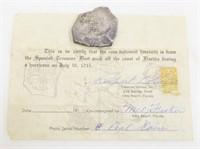 Coin From Spanish Treasure Fleet Sink off FL 1715