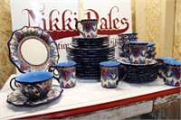 HUGE Set of Lucca Handcrafted Dishes